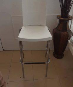 כסא בר לבן ניקל