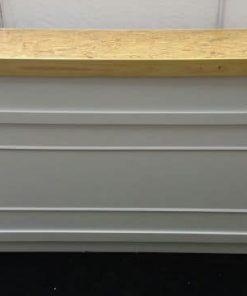 מזנון טבעי חצאית לבן מסגרת