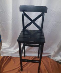 כסא בר עץ שחור