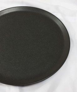 צלחת גרניט שחור 28